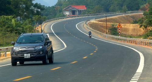 Cao tốc Hòa Bình - Mộc Châu sẽ kết nối với cao tốc Hòa Lạc - Hòa Bình đã hoàn thành. Ảnh: Bá Đô.
