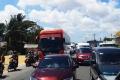 Quốc lộ 1A qua Sóc Trăng ùn tắc xe hành hương