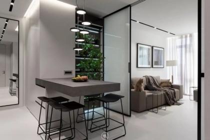 Căn hộ 44m² đẹp không giới hạn với phong cách tối giản