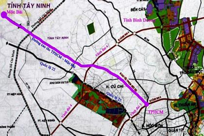 Cao tốc nối TP HCM với Tây Ninh dự kiến đầu tư hơn 10.000 tỷ đồng