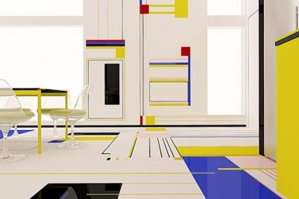 Bữa sáng với Mondrian – Ý tưởng cho căn hộ có một không hai của Brani & Desi