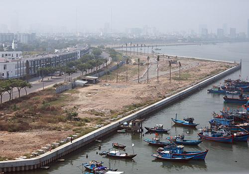 Dự án lấn sông Hàn sẽ được thành phố tiếp tục điều chỉnh quy hoạch. Ảnh: Nguyễn Đông.