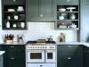 Sử dụng tủ màu xanh cho nhà bếp một vóc dáng mới mẻ