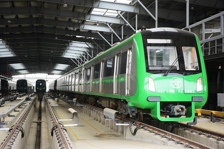 Đường sắt Cát Linh - Hà Đông đã vận hành thử nhà ga từ tháng 3/2019. Ảnh: Giang Huy.