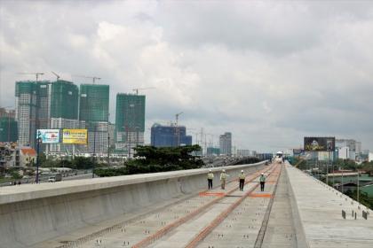 TP Hồ Chí Minh: Tuyến Metro số 1 thi công đạt gần 64%