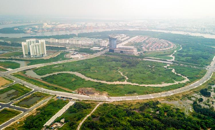 Khu đô thị mới Thủ Thiêm sau hơn 20 năm xây dựng. Ảnh:Hữu Khoa.
