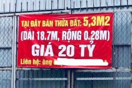 Rao bán miếng đất Hà Nội gần 4 tỷ/m2, thế giới cũng chào thua