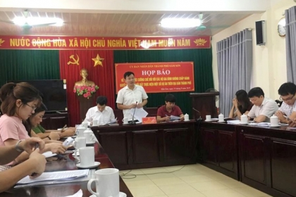 TP Sầm Sơn (Thanh Hóa): Họp báo về phương án cưỡng chế 23 hộ dân thuộc 4 dự án trên địa bàn