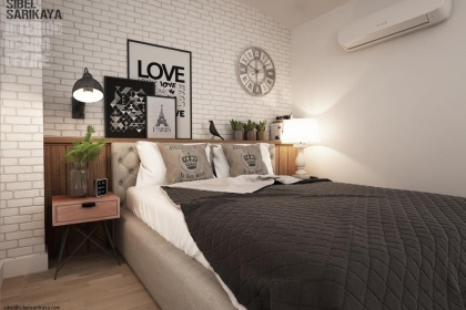 Phòng ngủ nhỏ nhưng vẫn đẹp ngất ngây nhờ khéo bố trí