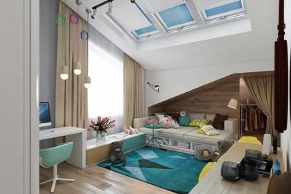 Ý tưởng thiết kế phòng ngủ trẻ em hiện đại với màu sắc