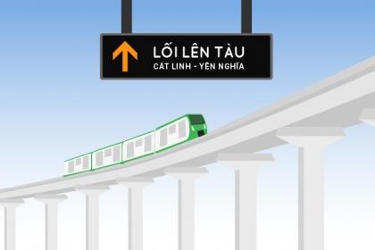 Hành khách đi tàu điện Cát Linh - Hà Đông như thế nào?