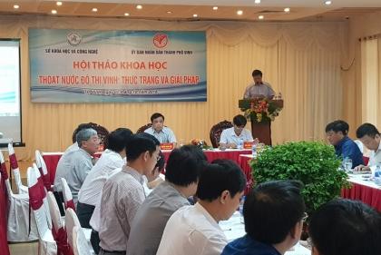 Nghệ An: Hội thảo thoát nước đô thị Vinh - thực trạng, nguyên nhân và giải pháp
