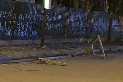 Thanh tra lao động nhận định vụ thanh sắt rơi từ công trình ở Hà Nội