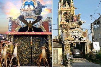 Ngôi nhà phong thủy kỳ quái ở Hưng Yên, như động Ngưu Ma Vương