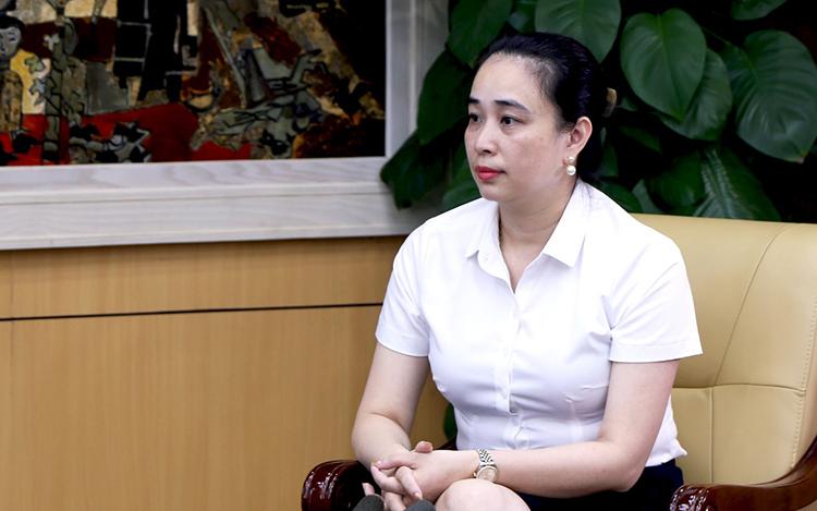 Bà Đỗ Nguyệt Ánh, Tổng giám đốc công ty Điện lực miền Bắc. Ảnh: Gia Hoàng