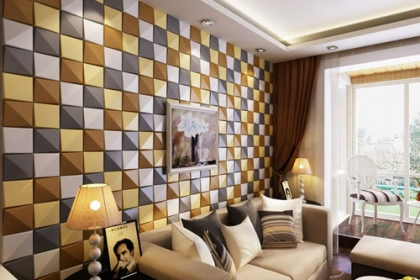 Cách chọn mua gạch ốp tường phòng khách