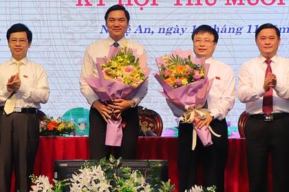 Nghệ An có 2 phó chủ tịch mới