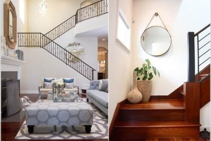 10 cách trang trí cầu thang tuyệt đẹp dành cho phòng khách của bạn