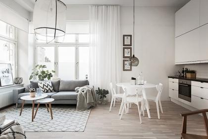 6 mẫu phòng khách đẹp ấn tượng cho căn hộ rộng 50m2