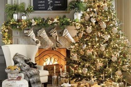 Gợi ý trang trí phòng khách đẹp đón Giáng sinh