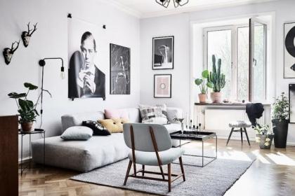 Những cách sử dụng gam màu Pastel cho phòng khách Scandinavia