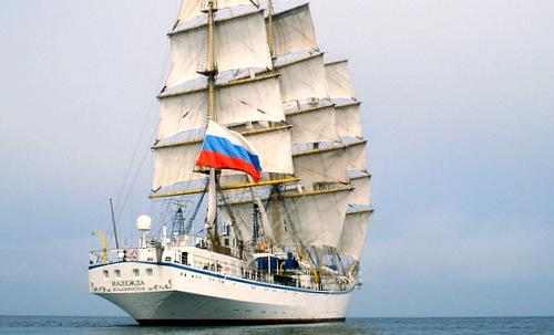 Tàu huấn luyệnSTS NADEZHDA. Ảnh: Trung tâm phối hợp tìm kiếm cứu nạn hàng hải tại TP Vũng Tàu cung cấp.