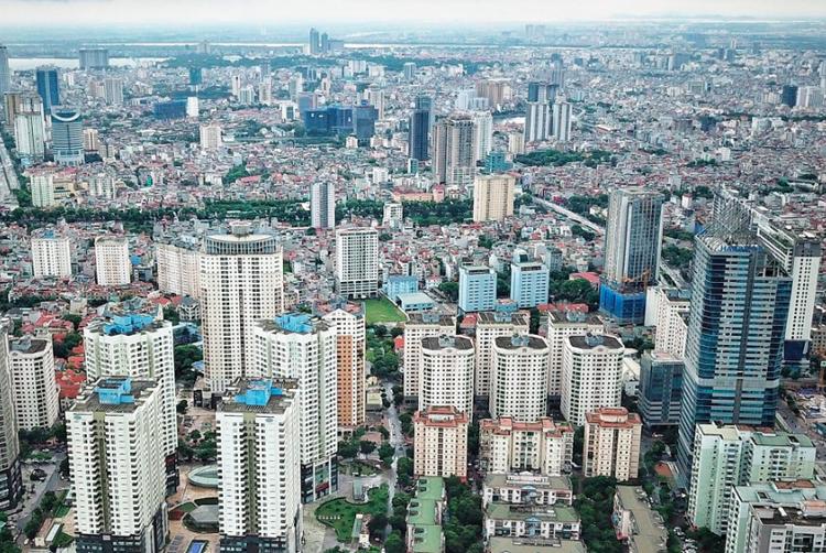 Ngày càng nhiều chung cư cao tầng được xây dựngtại HàNội. Ảnh: Giang Huy.